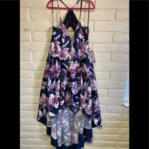 Speechless High-Low Dress Low Back Floral Size 20